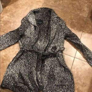 Sweaters - Wool Blend Cynthia Rowley Cardigan with Tie